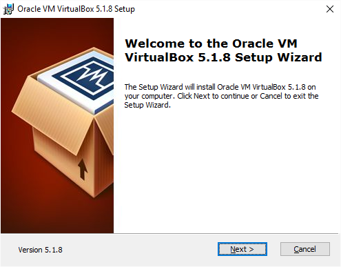 VirtualBox Installation Start