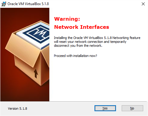 VirtualBox Installation Network Interfaces
