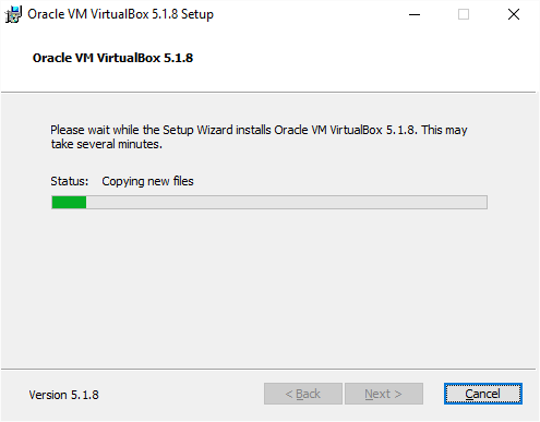 VirtualBox Installation Installing