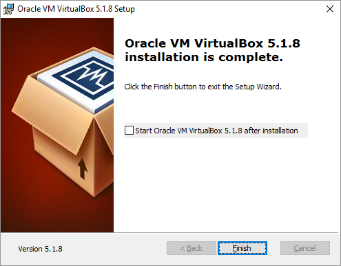 VirtualBox Installation Start VirtualBox